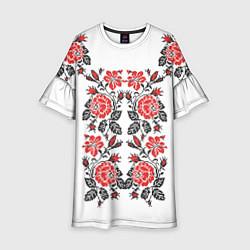Платье клеш для девочки Вышивка 28 цвета 3D — фото 1