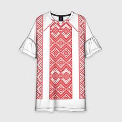 Платье клеш для девочки Вышивка 46 цвета 3D-принт — фото 1