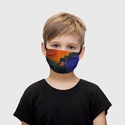 Маска для лица детская Виктор Цой в ночи цвета 3D — фото 1