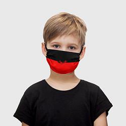 Маска для лица детская АлисА: Черный & Красный цвета 3D — фото 1