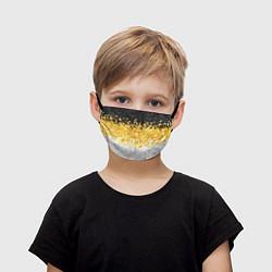 Маска для лица детская Имперский флаг пикселами цвета 3D — фото 1