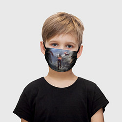 Маска для лица детская ANTHEM цвета 3D-принт — фото 1