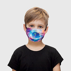 Маска для лица детская Космонавт - космос цвета 3D — фото 1