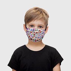 Маска для лица детская AMONG US цвета 3D-принт — фото 1