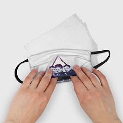 Маска для лица детская 30 seconds to mars цвета 3D-принт — фото 2