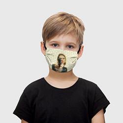 Маска для лица детская Кобейн с пистолетом цвета 3D-принт — фото 1