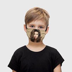 Маска для лица детская Анжелина Джоли цвета 3D — фото 1