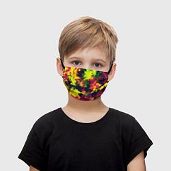 Маска для лица детская Кислотный взрыв цвета 3D — фото 1