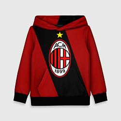 Толстовка-худи детская Milan FC: Red Collection цвета 3D-черный — фото 1