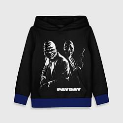Толстовка-худи детская Payday цвета 3D-синий — фото 1