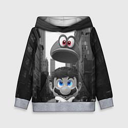 Толстовка-худи детская Super Mario: Citizen Odyssey цвета 3D-меланж — фото 1