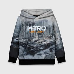 Толстовка-худи детская Metro: Last Light цвета 3D-черный — фото 1