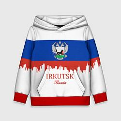 Толстовка-худи детская Irkutsk: Russia цвета 3D-красный — фото 1