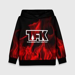 Толстовка-худи детская Thousand Foot Krutch: Red Flame цвета 3D-черный — фото 1