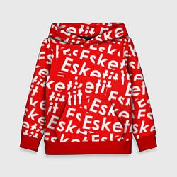 Толстовка-худи детская Esketit Pattern цвета 3D-красный — фото 1