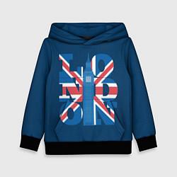 Толстовка-худи детская London: Great Britain цвета 3D-черный — фото 1
