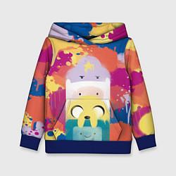 Толстовка-худи детская Adventure Time цвета 3D-синий — фото 1