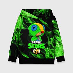 Толстовка-худи детская BRAWL STARS LEON цвета 3D-черный — фото 1