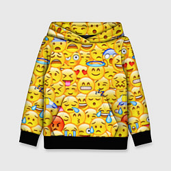 Толстовка-худи детская Emoji цвета 3D-черный — фото 1