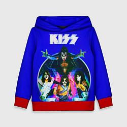 Толстовка-худи детская Kiss Show цвета 3D-красный — фото 1