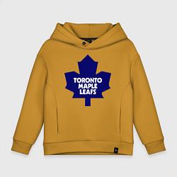 Толстовка оверсайз детская Toronto Maple Leafs цвета горчичный — фото 1