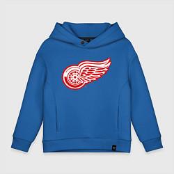 Толстовка оверсайз детская Detroit Red Wings цвета синий — фото 1