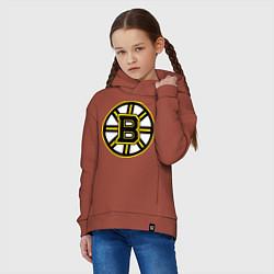 Толстовка оверсайз детская Boston Bruins цвета кирпичный — фото 2