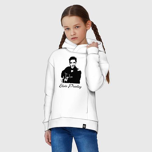 Детское худи оверсайз Elvis Presley / Белый – фото 3