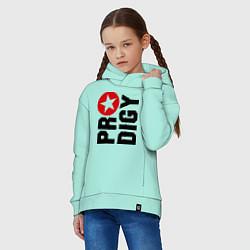Толстовка оверсайз детская Prodigy Star цвета мятный — фото 2