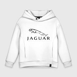 Толстовка оверсайз детская Jaguar цвета белый — фото 1