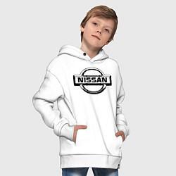 Толстовка оверсайз детская Nissan club цвета белый — фото 2