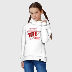 Толстовка оверсайз детская Full Tilt Poker цвета белый — фото 2