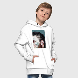 Толстовка оверсайз детская Том Харди Ван Гога цвета белый — фото 2