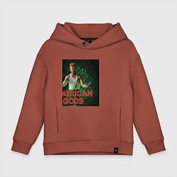 Толстовка оверсайз детская American Gods: Mad Sweeney цвета кирпичный — фото 1