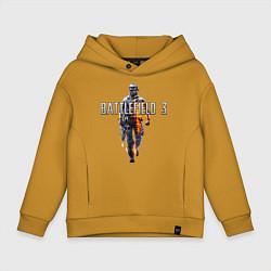 Толстовка оверсайз детская Battlefield 3 цвета горчичный — фото 1