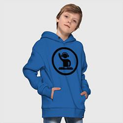 Толстовка оверсайз детская Dj за пультом цвета синий — фото 2