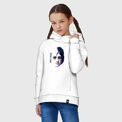 Толстовка оверсайз детская John Lennon: Techno цвета белый — фото 2