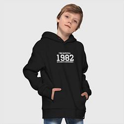 Толстовка оверсайз детская Год выпуска 1982 цвета черный — фото 2