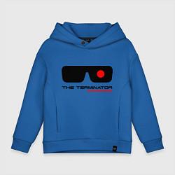 Толстовка оверсайз детская The Terminator цвета синий — фото 1