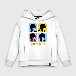 Толстовка оверсайз детская The Beatles: pop-art цвета белый — фото 1