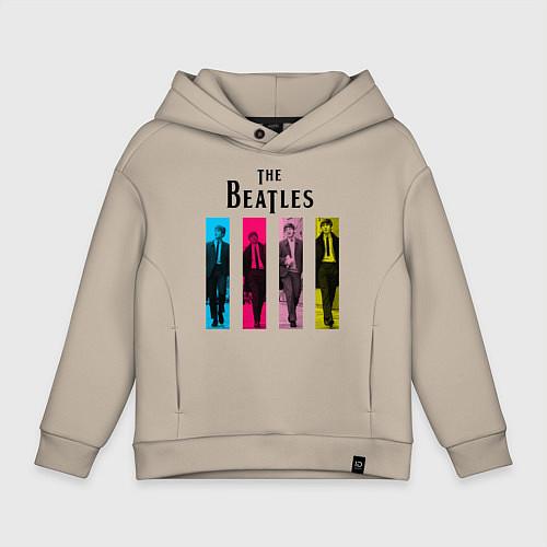 Детское худи оверсайз Walking Beatles / Миндальный – фото 1