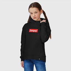 Толстовка оверсайз детская Senpai Supreme цвета черный — фото 2