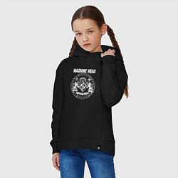 Толстовка оверсайз детская Machine Head MCMXCII цвета черный — фото 2