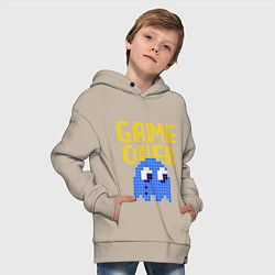 Толстовка оверсайз детская Pac-Man: Game over цвета миндальный — фото 2