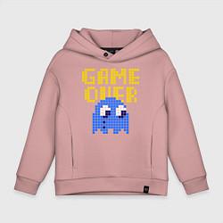 Толстовка оверсайз детская Pac-Man: Game over цвета пыльно-розовый — фото 1