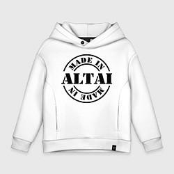 Толстовка оверсайз детская Made in Altai цвета белый — фото 1