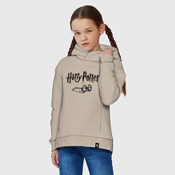 Толстовка оверсайз детская Гарри Поттер цвета миндальный — фото 2