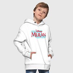 Толстовка оверсайз детская Mulan Disney цвета белый — фото 2
