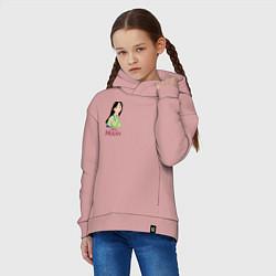 Толстовка оверсайз детская Mulan цвета пыльно-розовый — фото 2