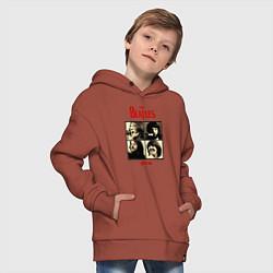 Толстовка оверсайз детская The Beatles LET IT BE цвета кирпичный — фото 2